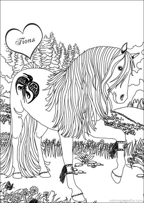 Bella Sara The Magical Horse Coloring Pages 4 | Coloring therapy ...