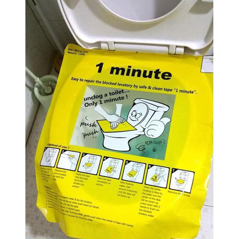 Toilet Bowl Plunger Film (Pack of 3) Plunger, Safe