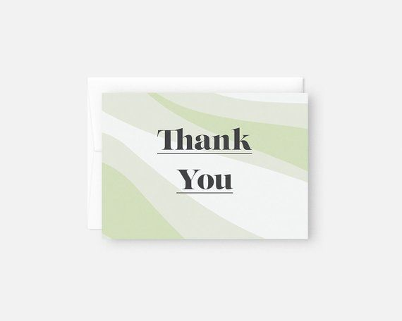 Modern Thank You Cards Bulk Green Notes Bridal Shower Baby Card P