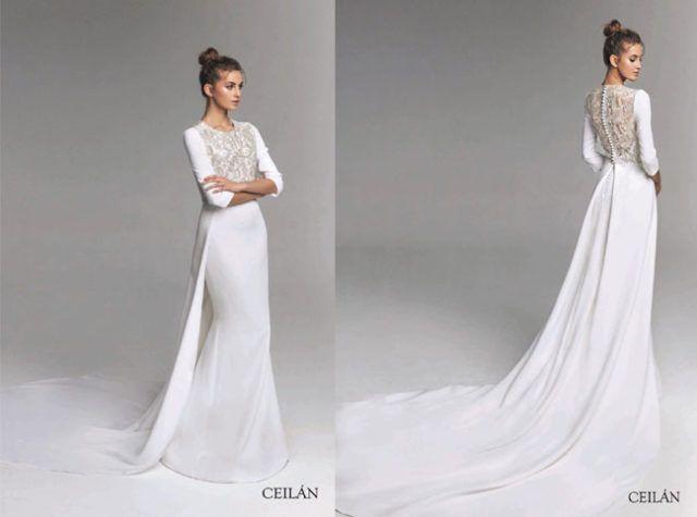 vestidos de novia de vicky martín berrocal cuerpo-bordado | vesitdos