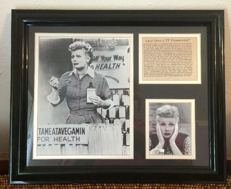 "Black Framed Silver Mat Prints I Love Lucy Vitameatavegamin Commercial 13x16""   eBay"