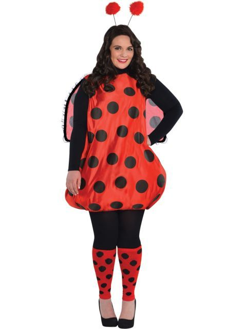lady bug halloween plus size fasching marienk fer. Black Bedroom Furniture Sets. Home Design Ideas