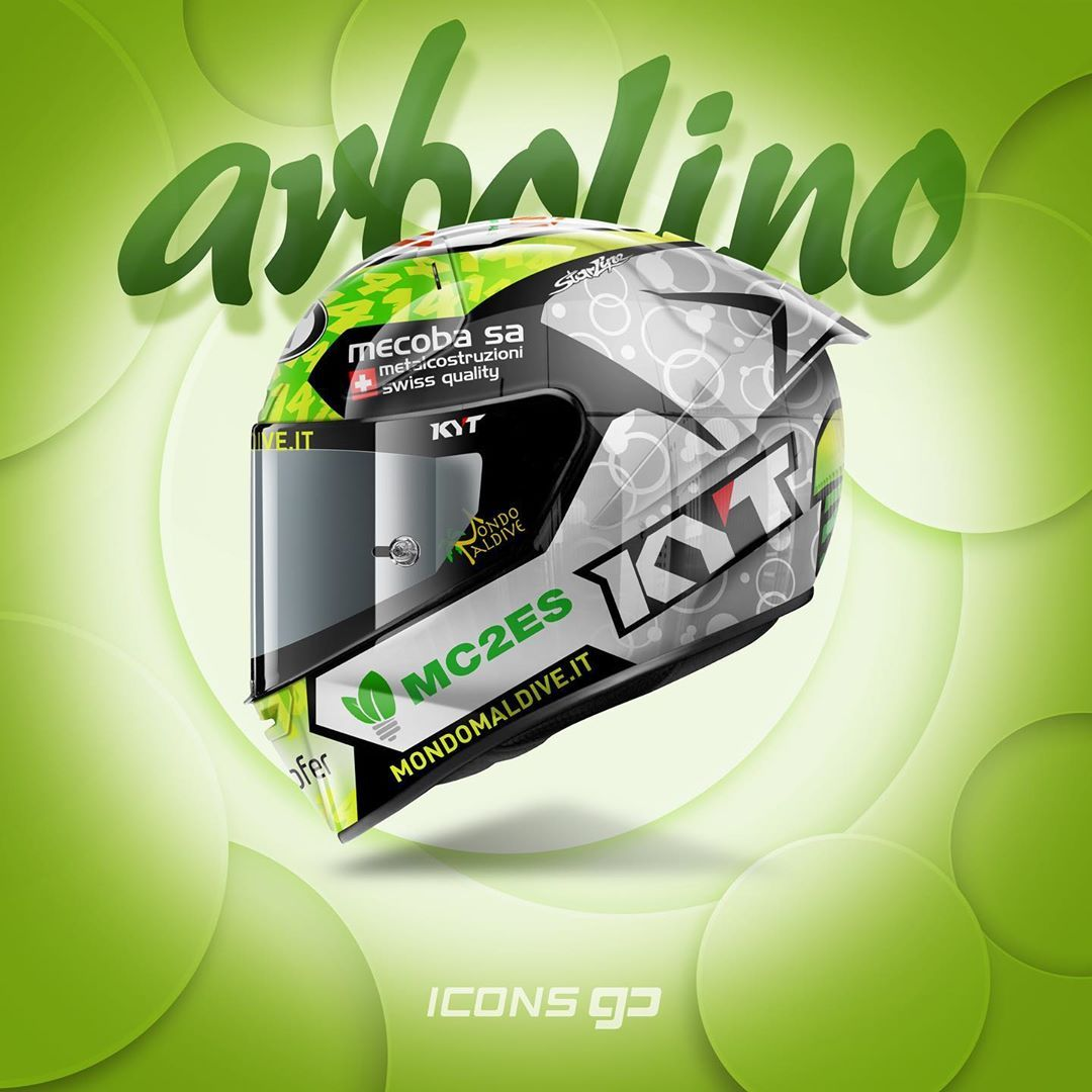 Icons Gp On Instagram T Arbolino Tony Arbolino Kyt Sr Gp By Kyteurope Design By Starlinedesi In 2020 Racing Helmets Motorcycle Helmet Design Helmet Design