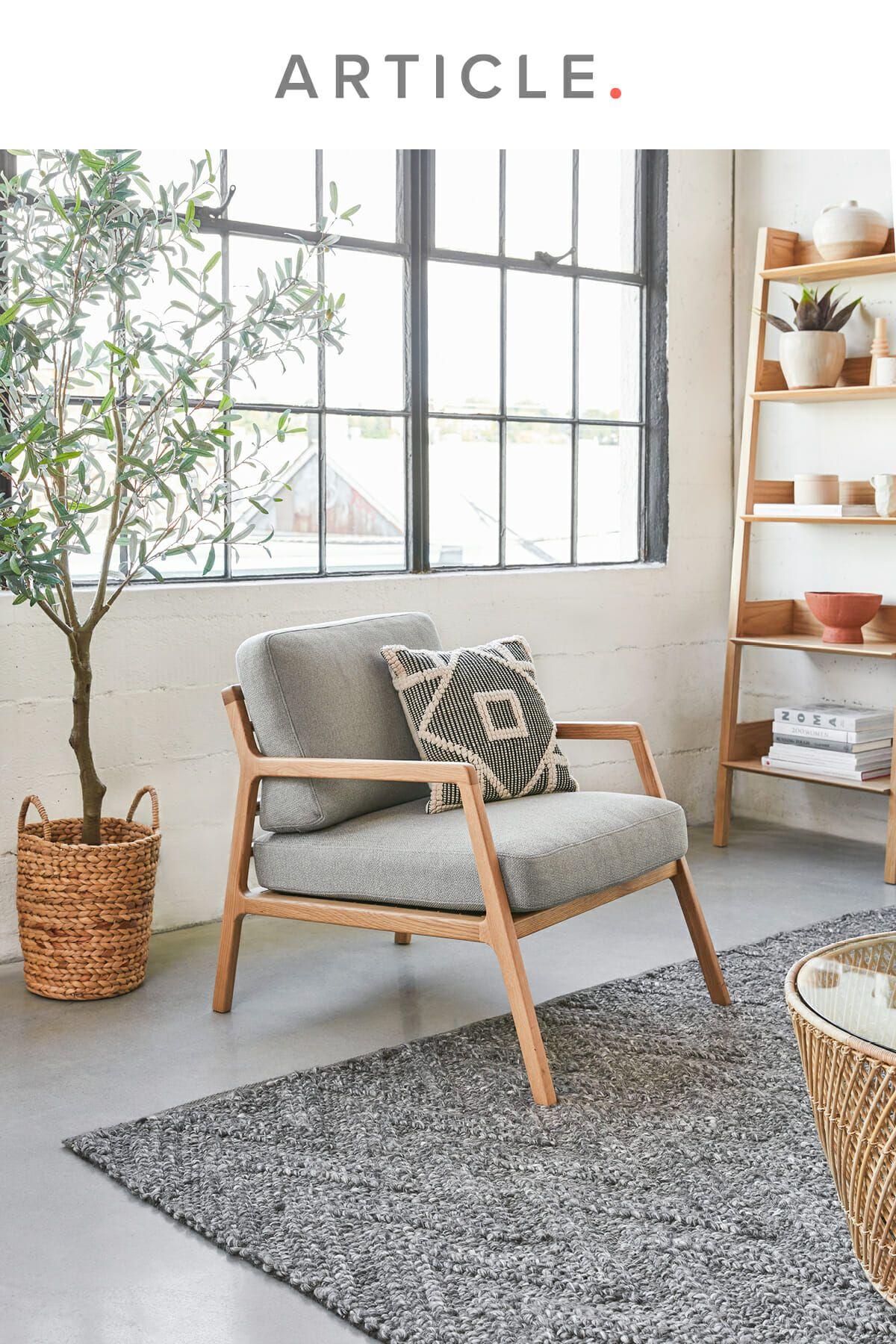 Denman Vapor Gray Chair   Swedish home decor, Interior design ...