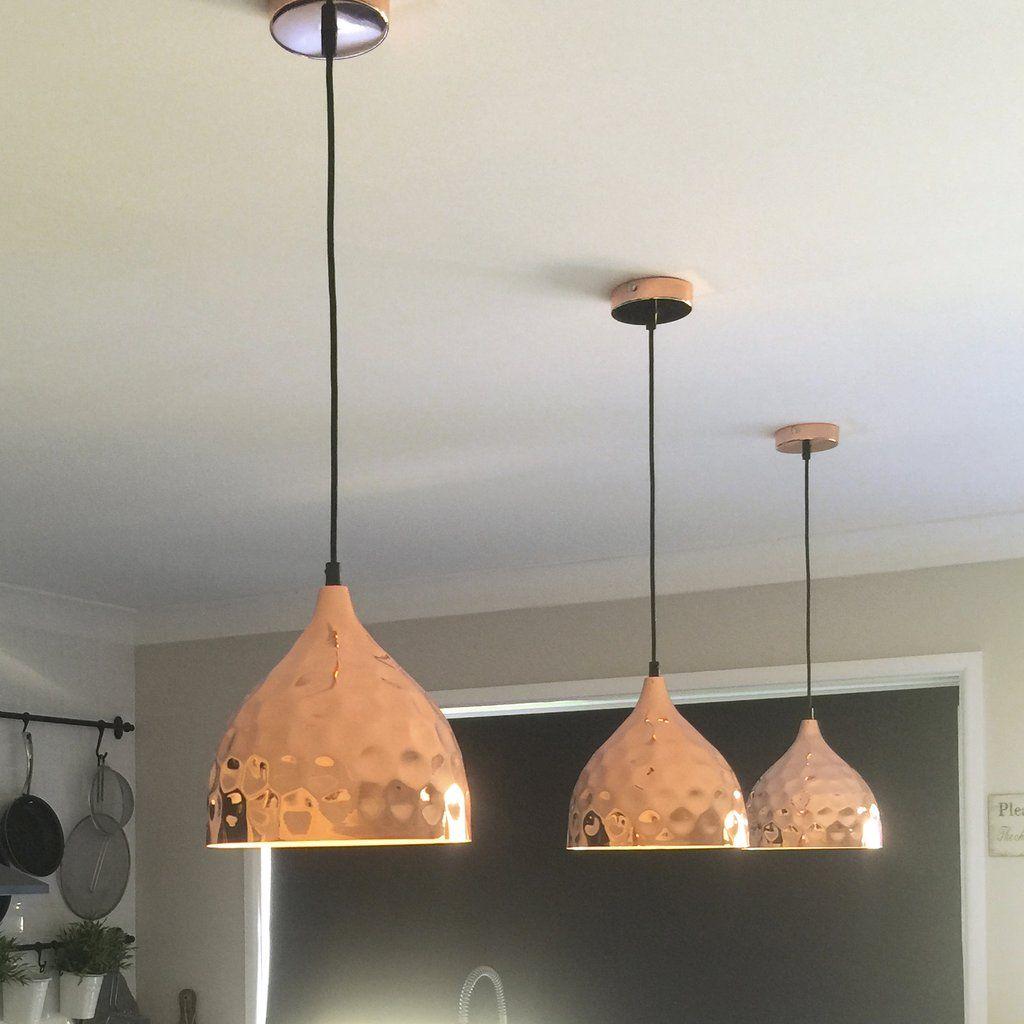 Pendant Light   Copper Hammered   Nora #concrete Pendant #copper #copper  Dome