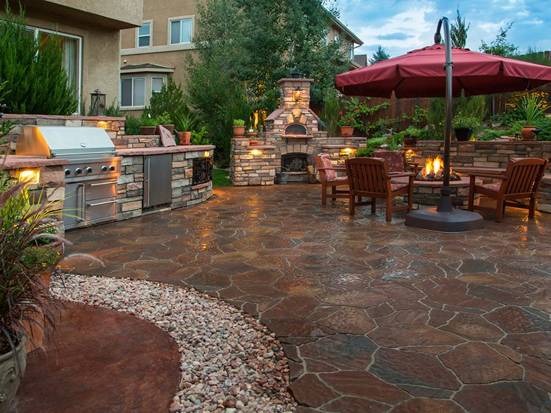 Need Some Inspiration For Deciding On What To Do With Your Landscape After Your Pool Is Gone Check Out Our New Patio Design Outdoor Patio Designs Patio Stones