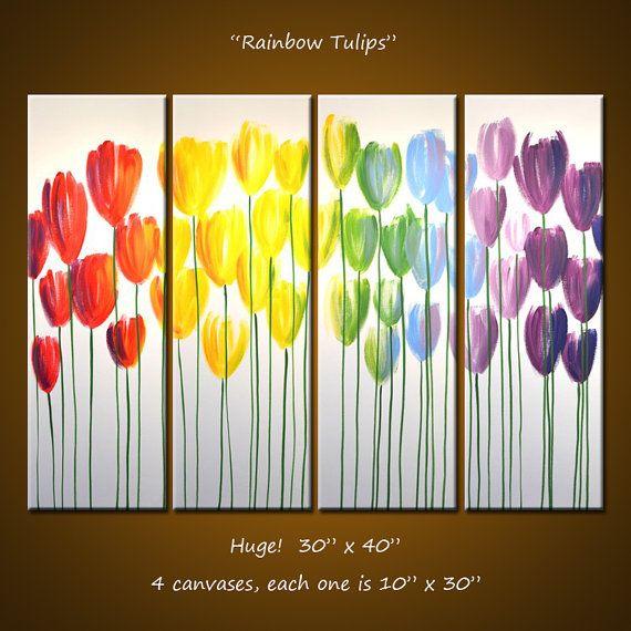 Amy Giacomelli Wall Art Rainbow Original Large Abstract Flower ...