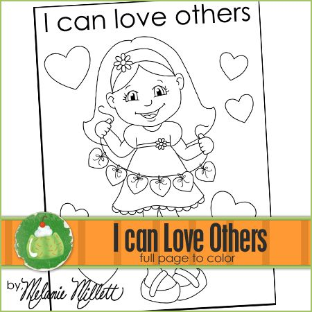 I Can Love Others Printable Coloring Page With Images Green