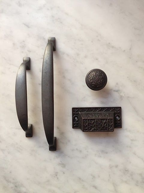 It\'s all from Restoration Hardware. The pulls on the left are the ...
