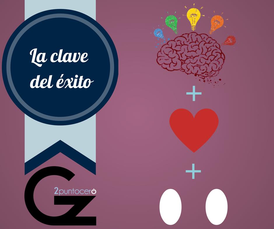 La clave del éxito (profesional y personal): Ideas + Pasión + ... Un par ;) ¡BUENOS DÍAS! http://www.gz2puntocero.com