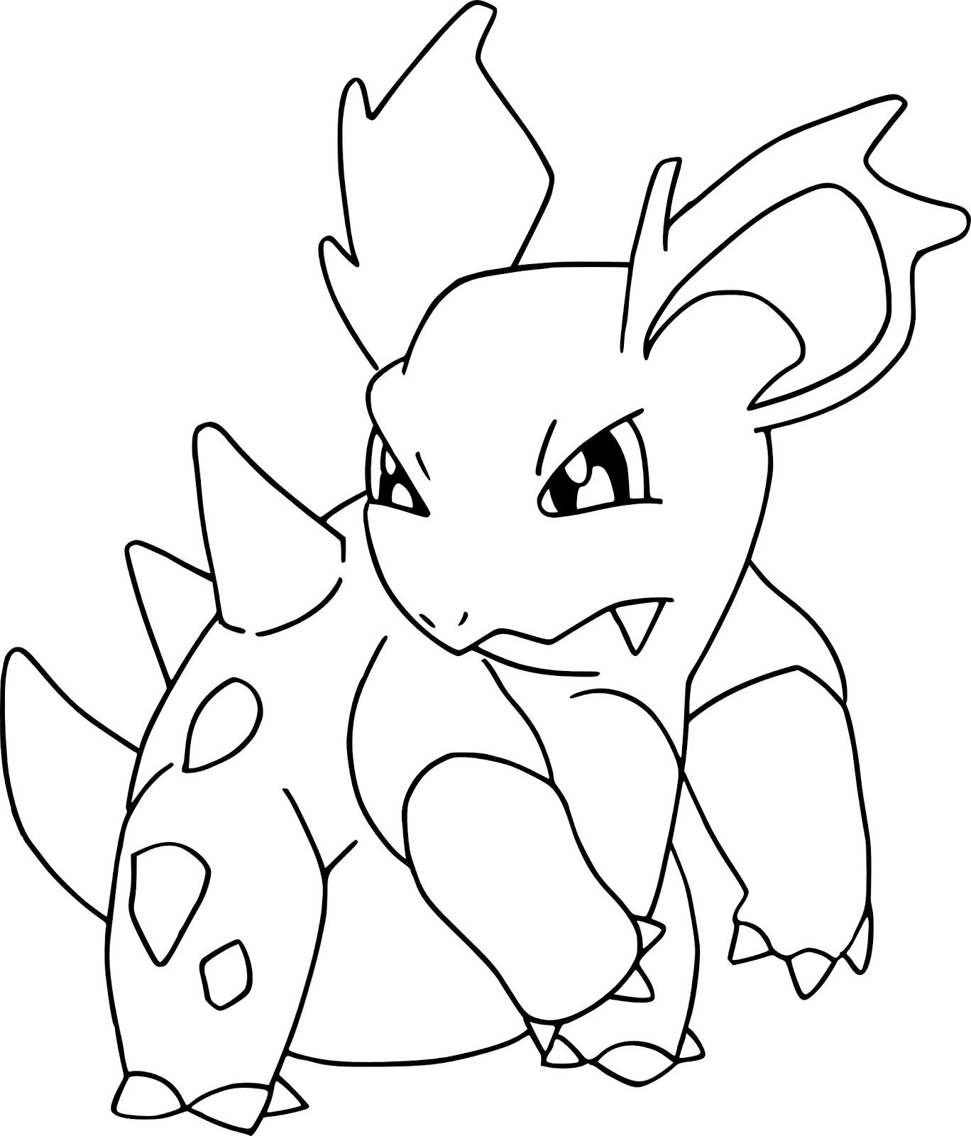 Nidorina Pokemon Coloring Pages For Kids Pokemon Coloring Pages Coloring Pages Pokemon Coloring