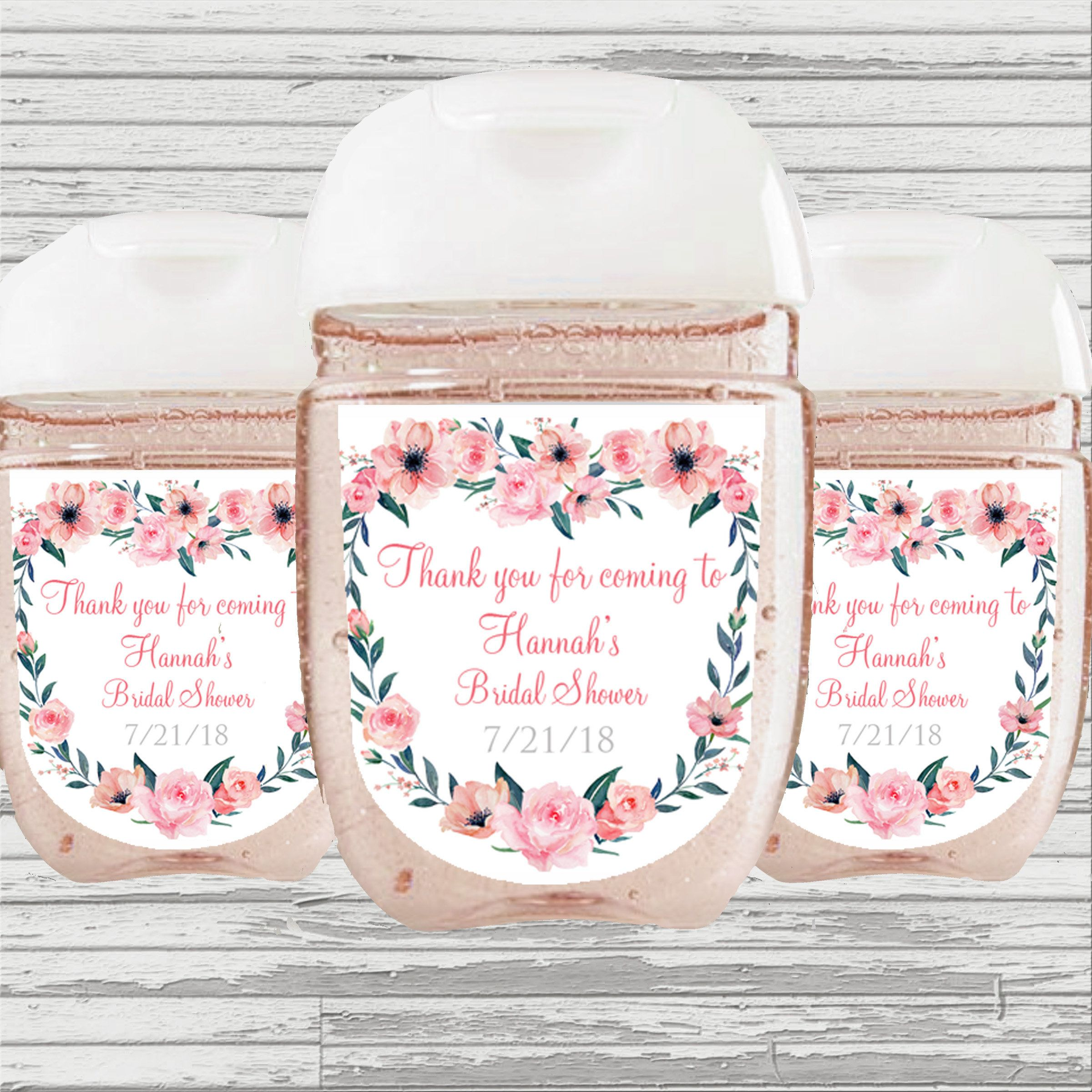 Flower Bridal Baby Shower Graduation Quinceanera Favor Sanitizer