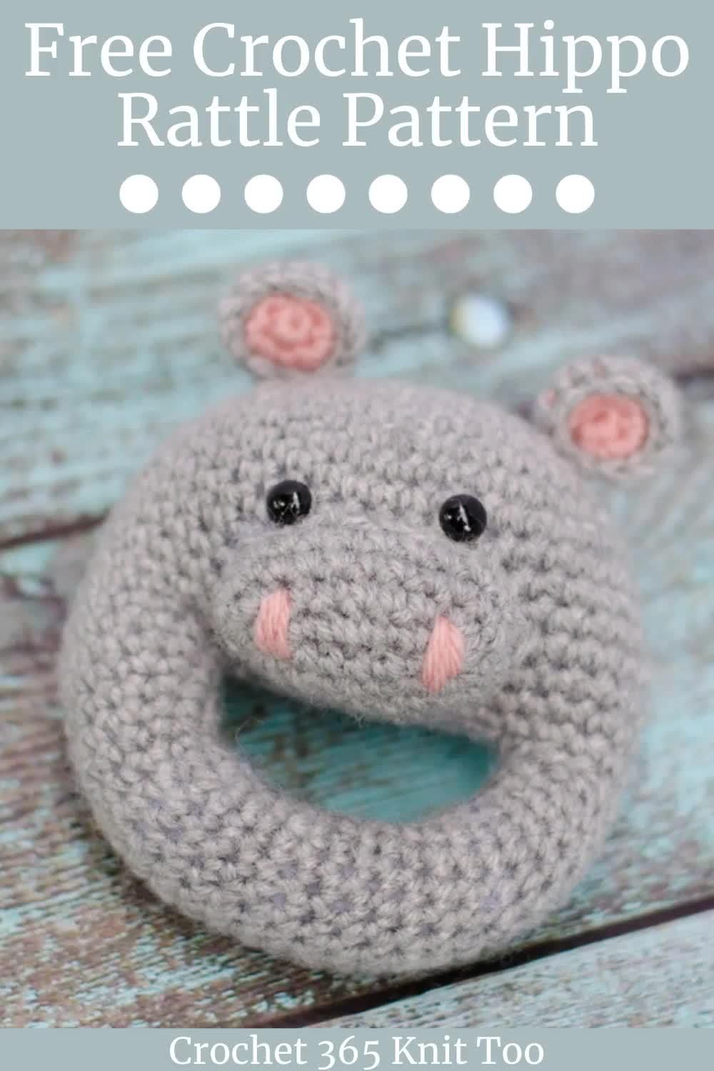 Photo of Crochet Hippo Rattle – Crochet 365 Knit Too