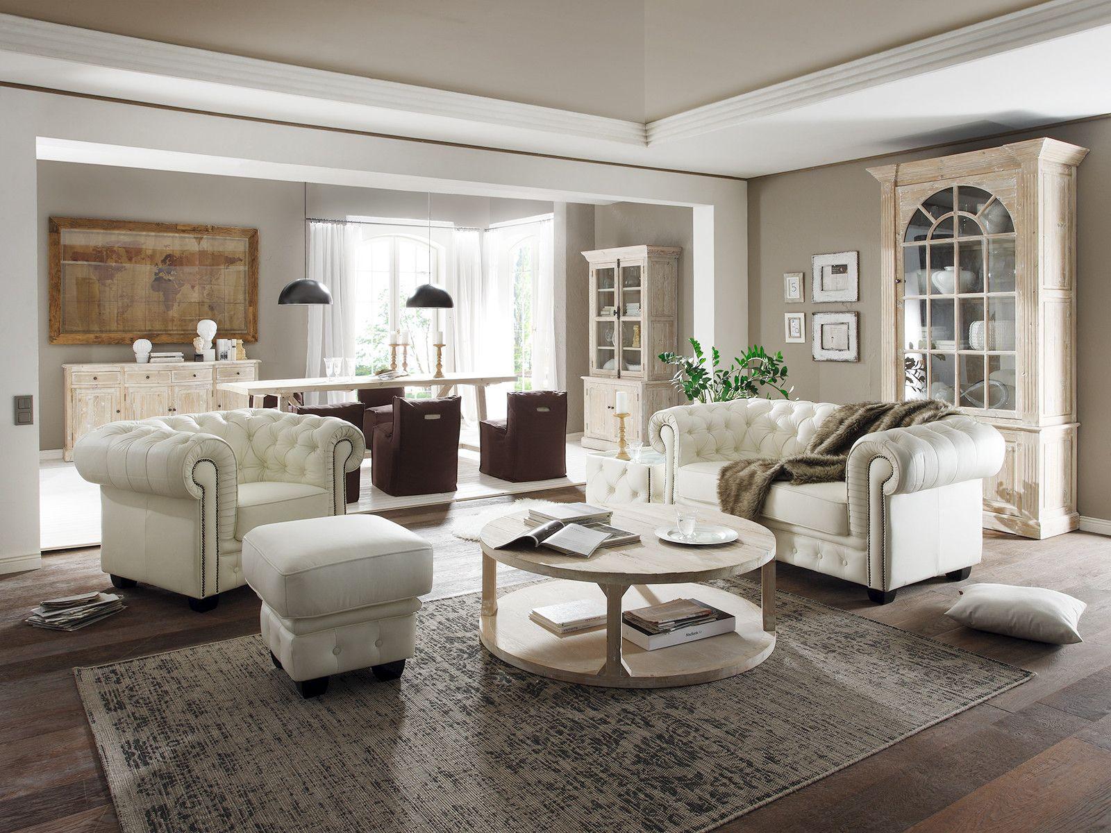 Chesterfield wei von home styling - Chesterfield wohnzimmer ...