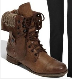 Fall Winter Fahion leather boots