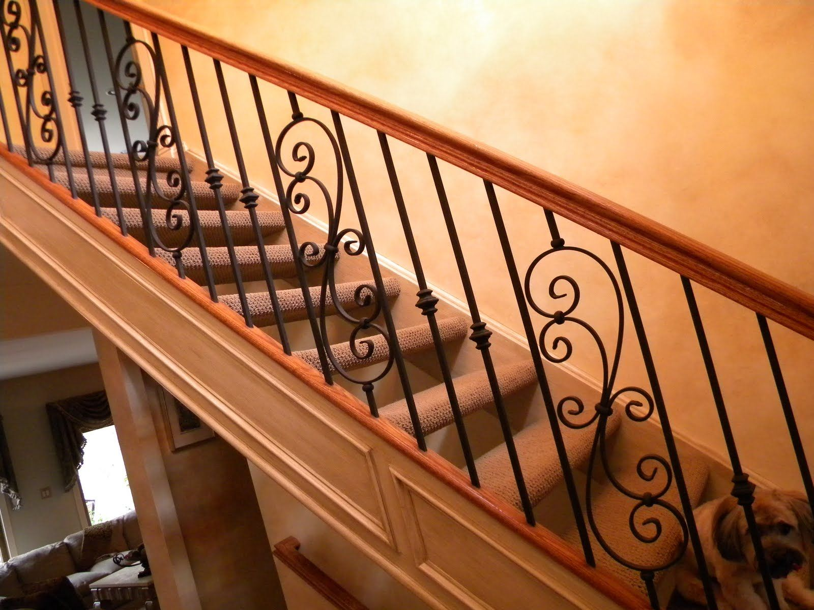 Best Installing Stair Railing Wood Stairs And Rails And Iron 400 x 300