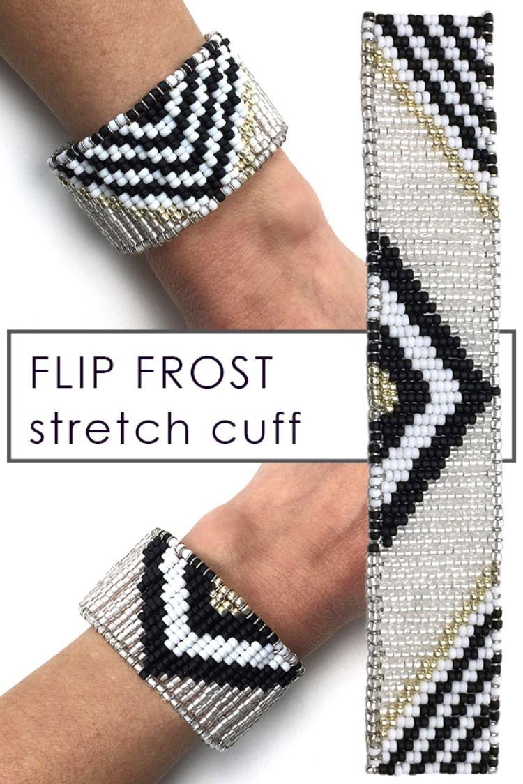 Frost Bead loom designs, Beaded cuff bracelet, Safety