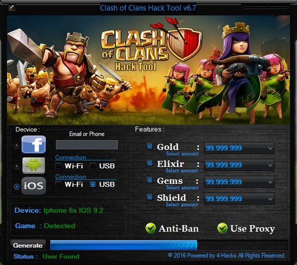 Clash of Clans Hack and Cheats Resources Generator 2019