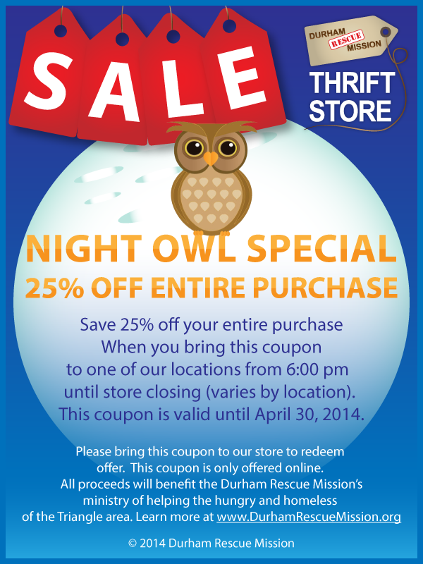 Save 25 Off Your Entire Purchase When You Bring This Coupon To One Of Our Locations From 6 00 Pm Until Store Closing Varies Store Closing Thrifting Coupons
