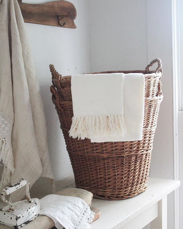 Recently Found The Most Beautiful Antique Polish Laundry BasketsI Bought Them Dom Marze
