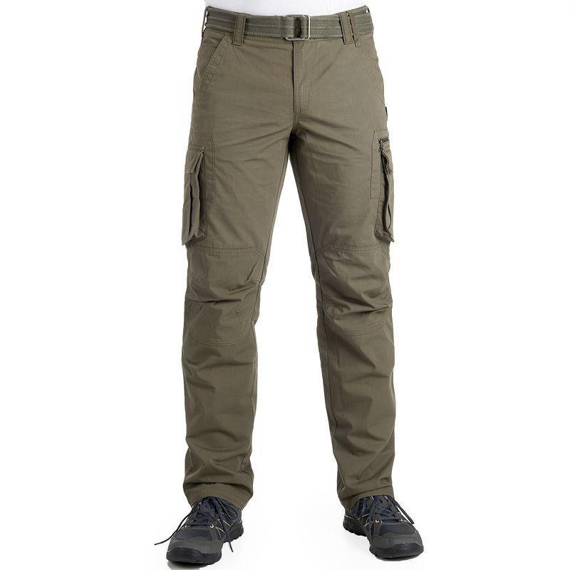 Deportes De Montana Pantalon Largo Arpenaz 500 Hombre Caqui Pantalones Para Hombre Pantalones Pantalon Largo