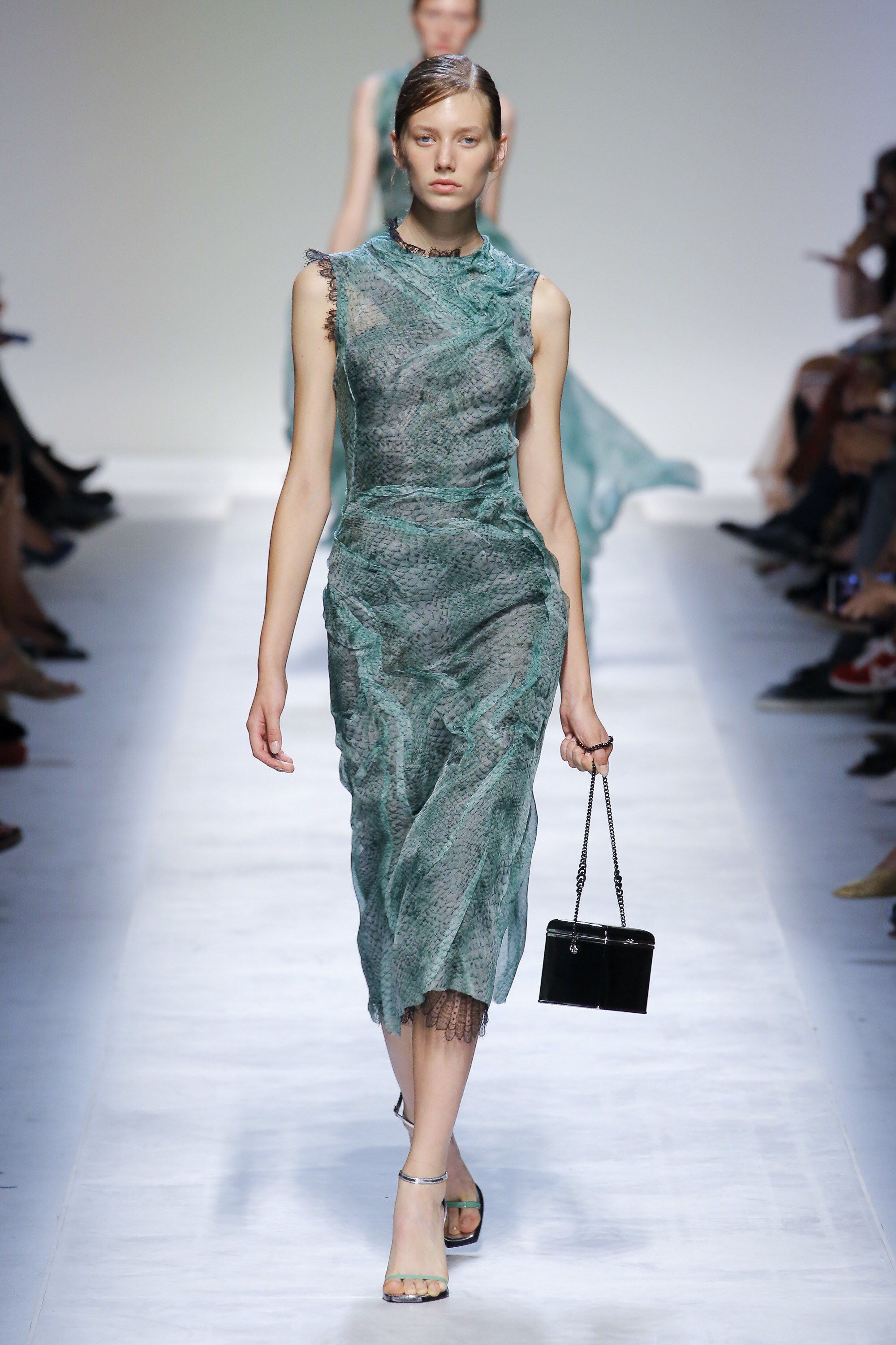 Lace dress with shorts underneath september 2019 Ermanno Scervino Spring  ReadytoWear Fashion Show Collection