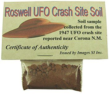 Red colored soil sample collected from the 1947 famous UFO crash site near Corona New Mexico.