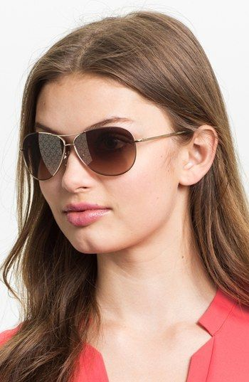 3210644015 Tory Burch 60mm Metal Aviator Sunglasses available at Monkee s ...