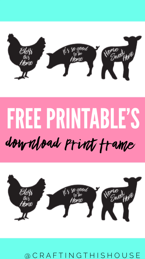 Free Farmhouse Printable Signs | BLOGGERS WHO CARE GROUP BOARD