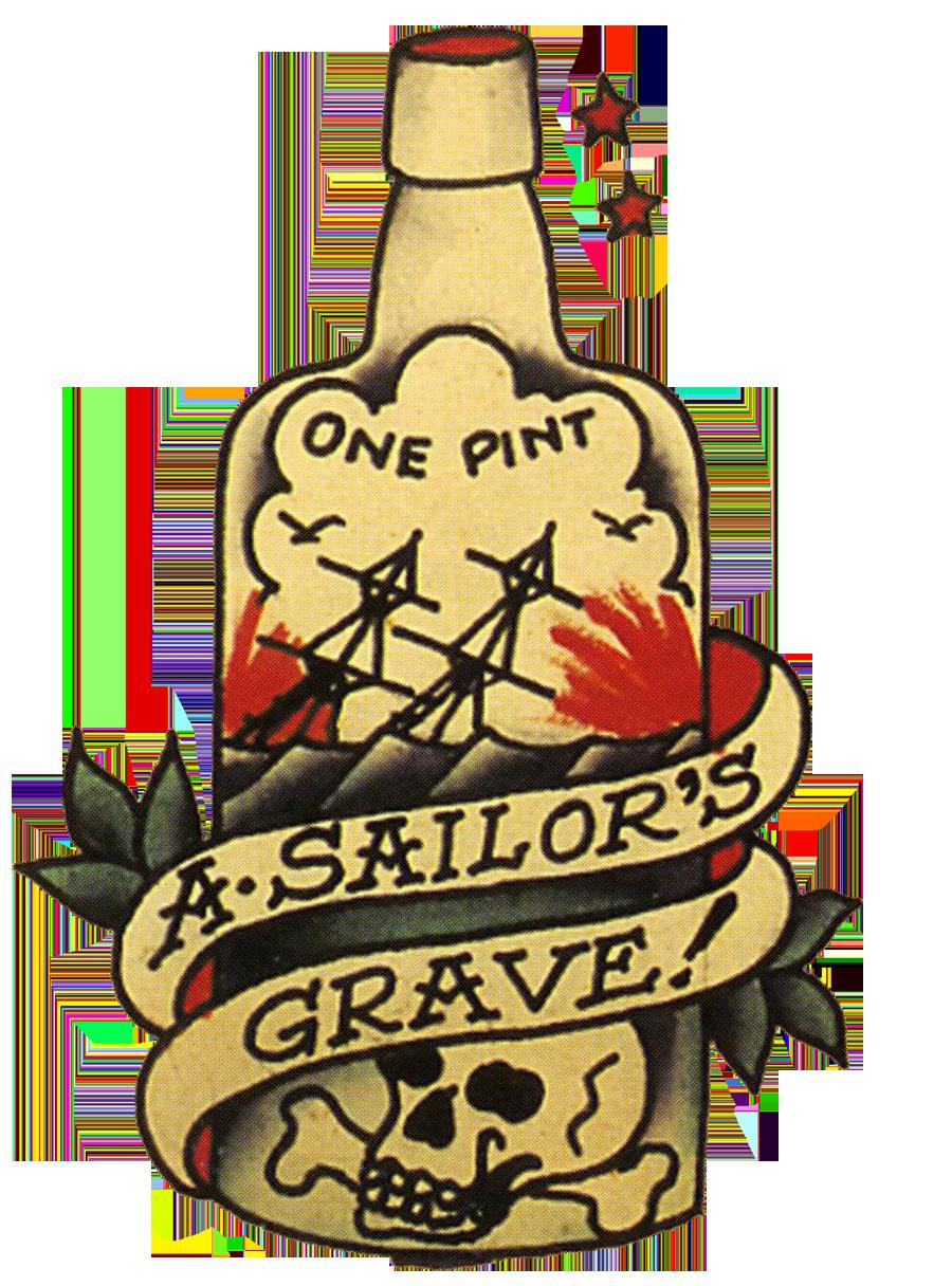 sailor jerry vintage tattoo aloha a sailors ruin ship in bottle
