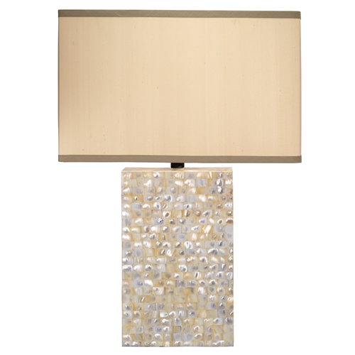 Jamie Young Parallax Mother of Pearl Large Table Lamp (This seems DIY as a mosaic project with a lamp kit))