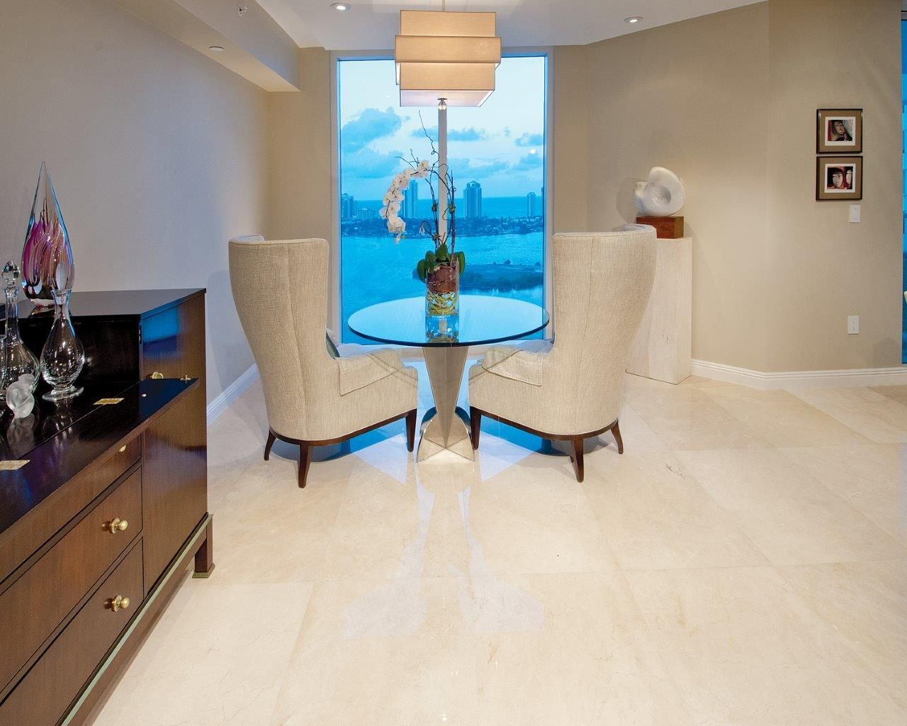 Williams Island Residence Marmol Family Living Rooms Stone Flooring Home