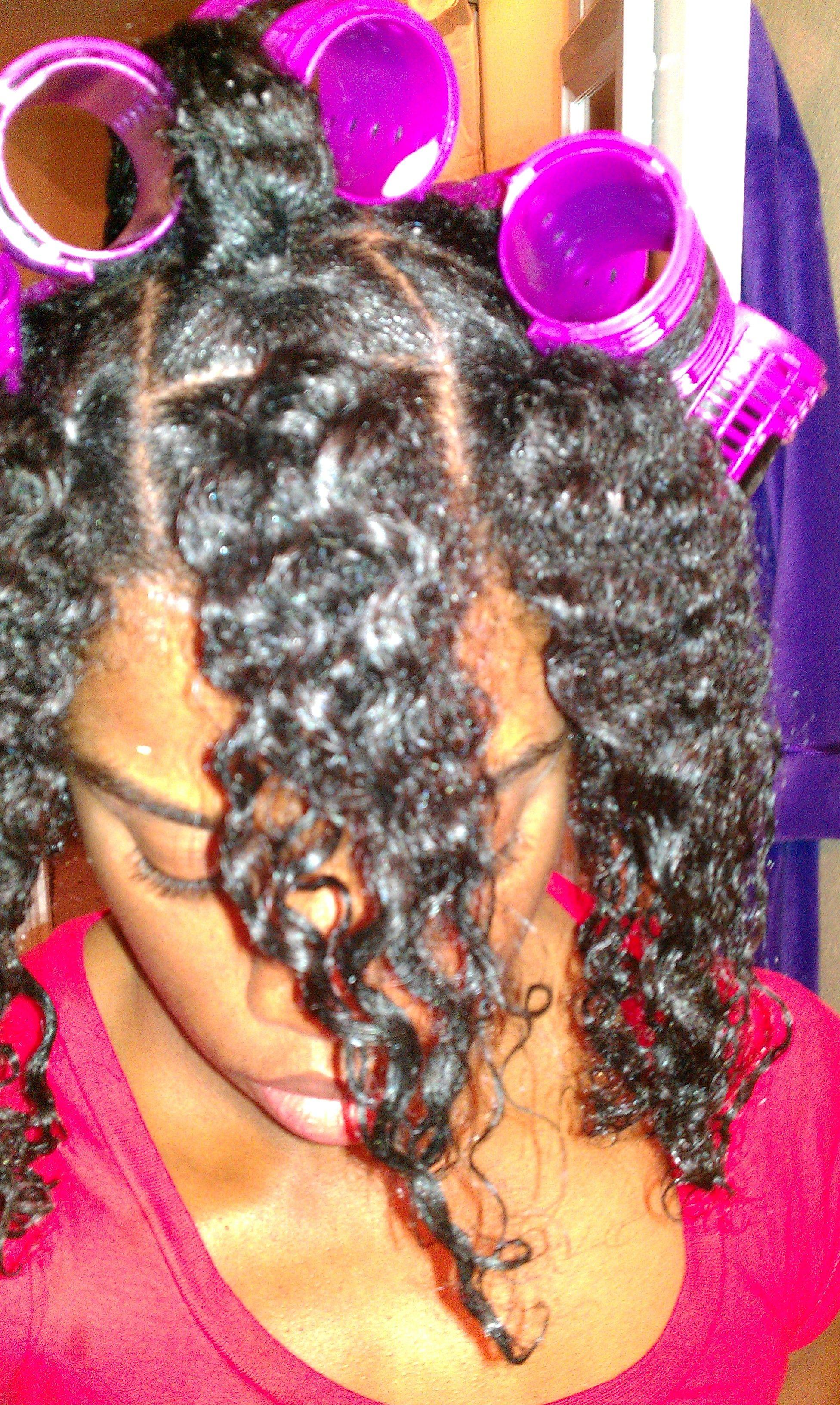 Quick u easy roller set using the ponytail method roller set and