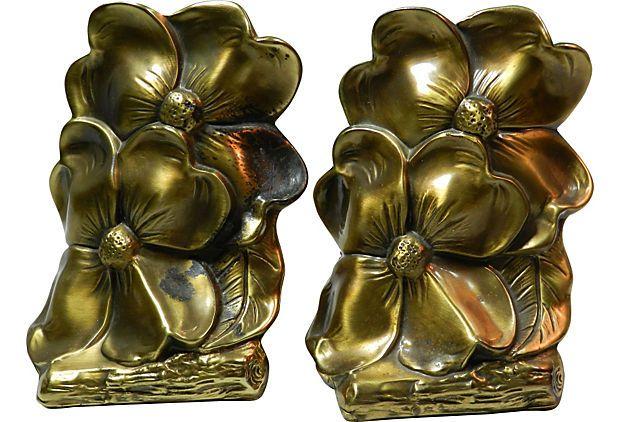 Bronze Dogwood Bookends on OneKingsLane.com