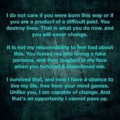 Letter to a narcissist. .. | narcissism and more | Pinterest