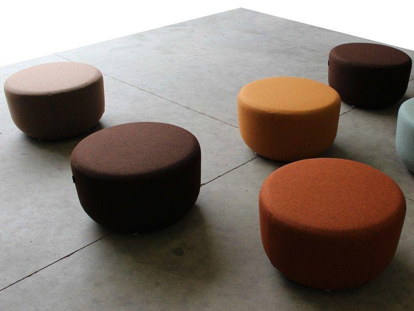Coprisedie Thonet ~ Pouf rotondo in tessuto pouf by slalom sedie pinterest