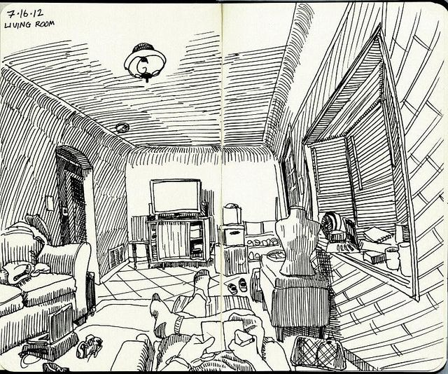 Pin By Divya Dubey On Drawing Living Room: Living Room By Paul Heaston, Via Flickr
