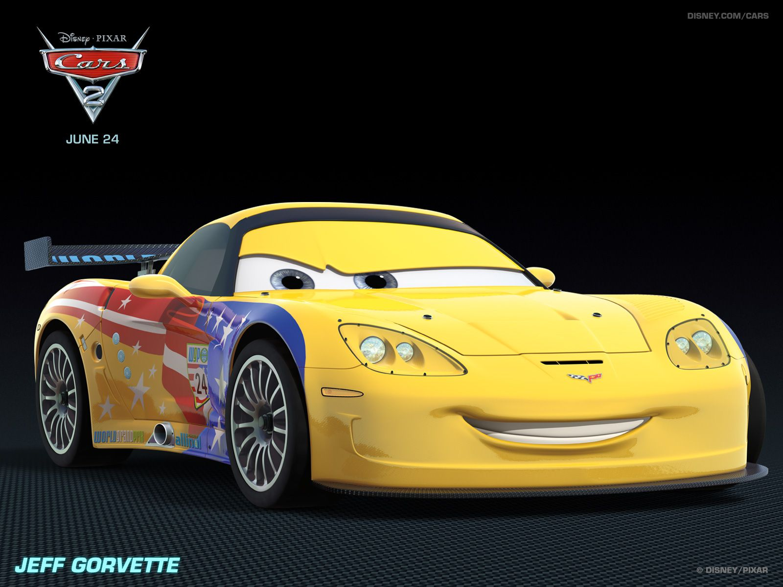 Jeff Gorvette Disney Cars Disney Pixar Cars Pixar Cars
