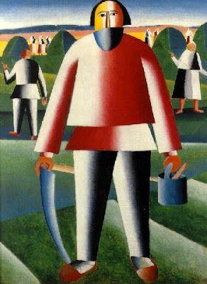 Kazimir Severinovich Malevich (Feb 23, 1879, Kiev, Ukraine - May 15, 1935, Saint Petersburg, Russia): Russian painter & art theoretician. Pioneer of geometric abstract art & The Originator of the Avant-Garde, Suprematist movement. ~Repinned Via Filip ~ Wikipedia