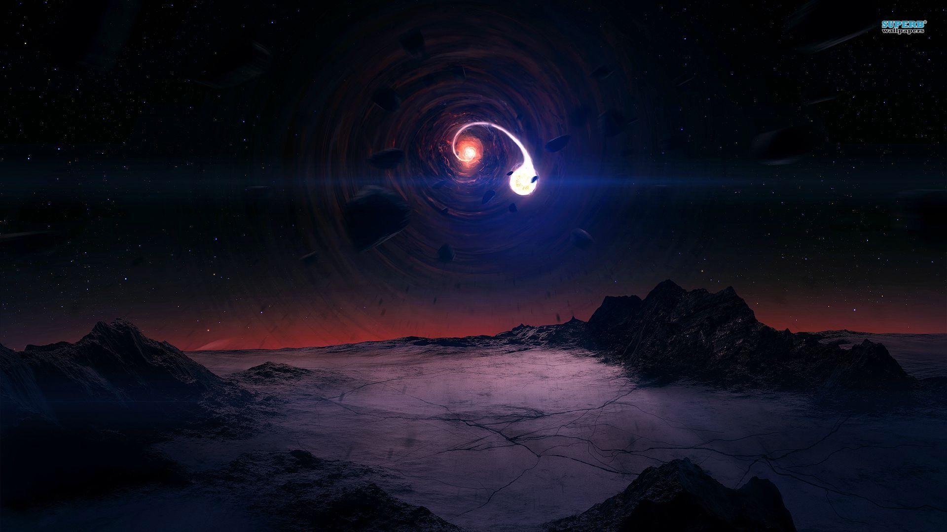 interstellar black hole gargantua hd desktop wallpaper high