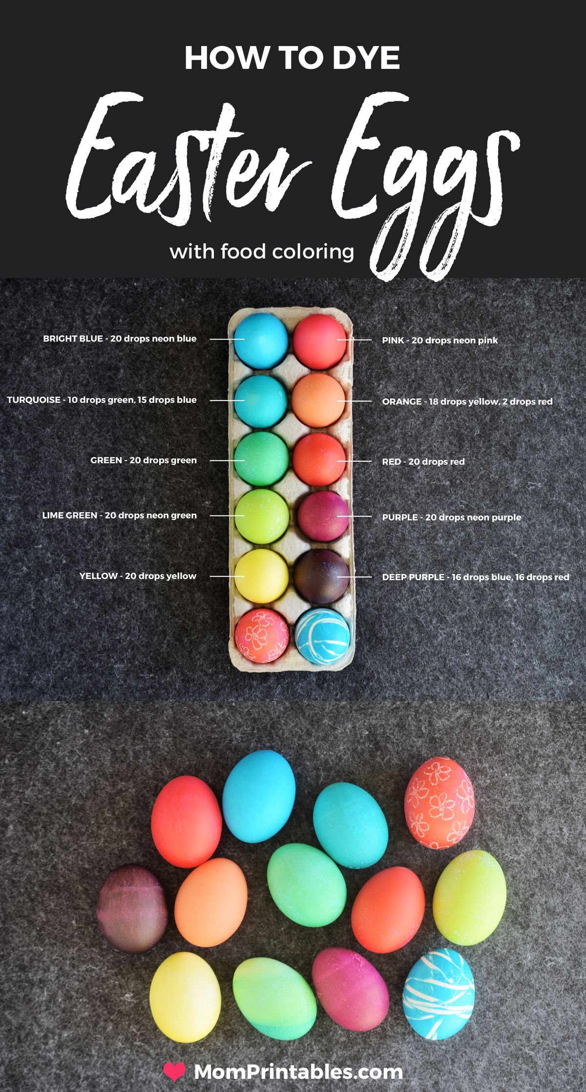 How To Dye Easter Eggs With Food Coloring Easter Crafts