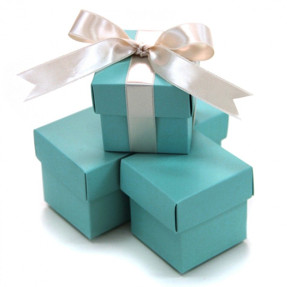 2 PC Favor Boxes 2x2x2 - Turquoise Tiffany Blue (Set of 10) [403505 ...
