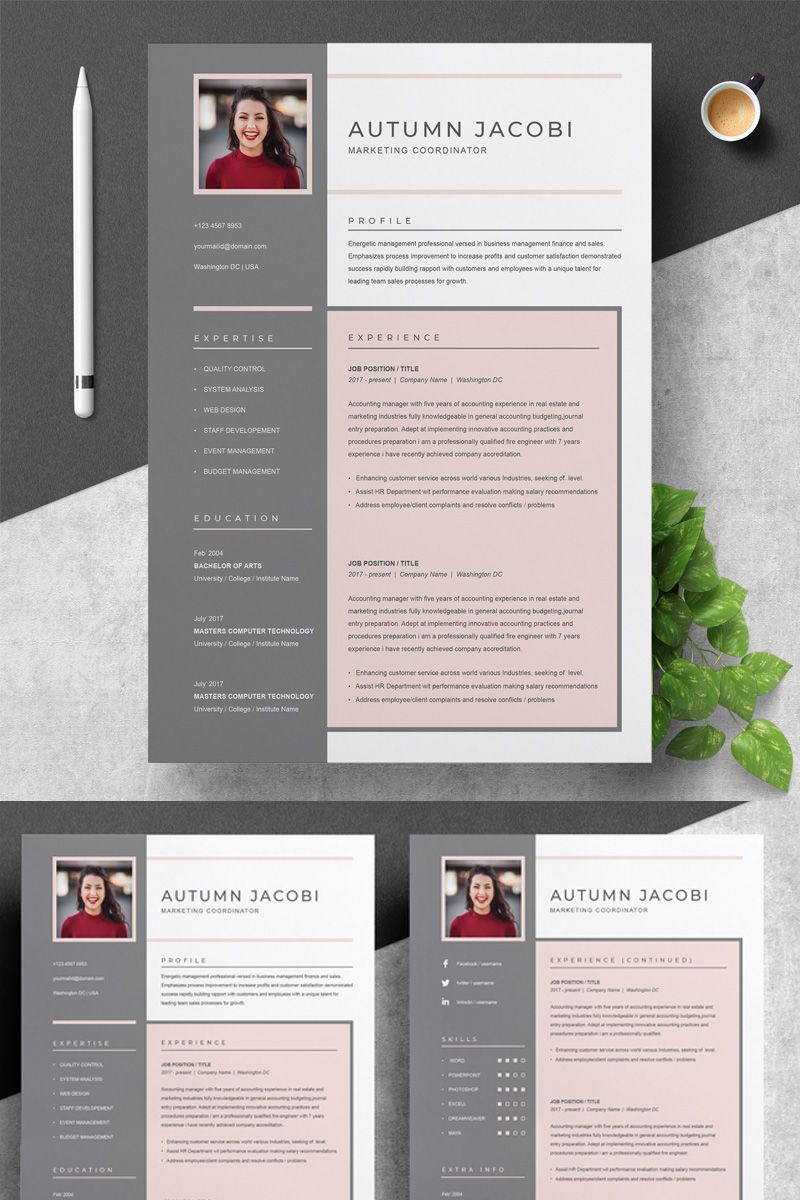 Autumn Resume Template 75649 Job resume examples