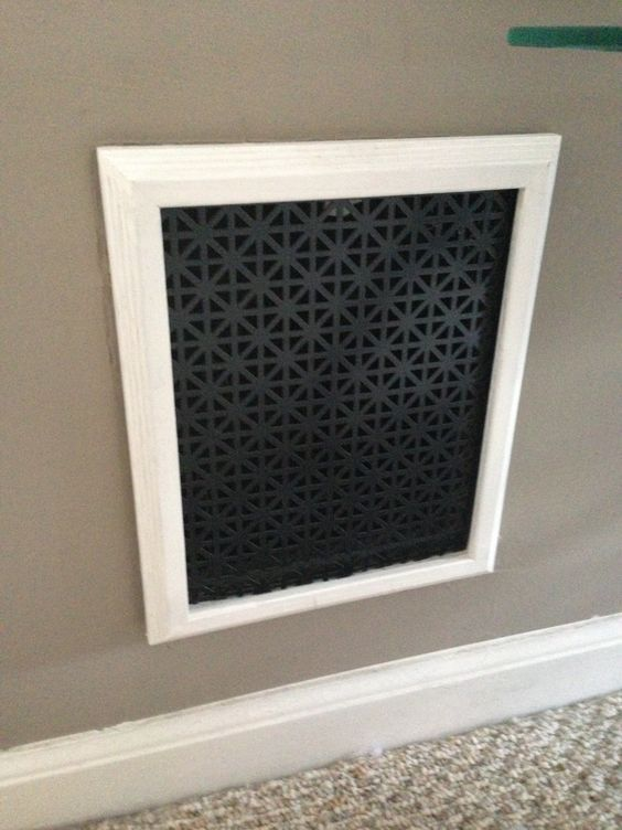 An Easy Diy Return Cover For Your Home Home Diy Decorative Vent Cover Home Improvement Projects