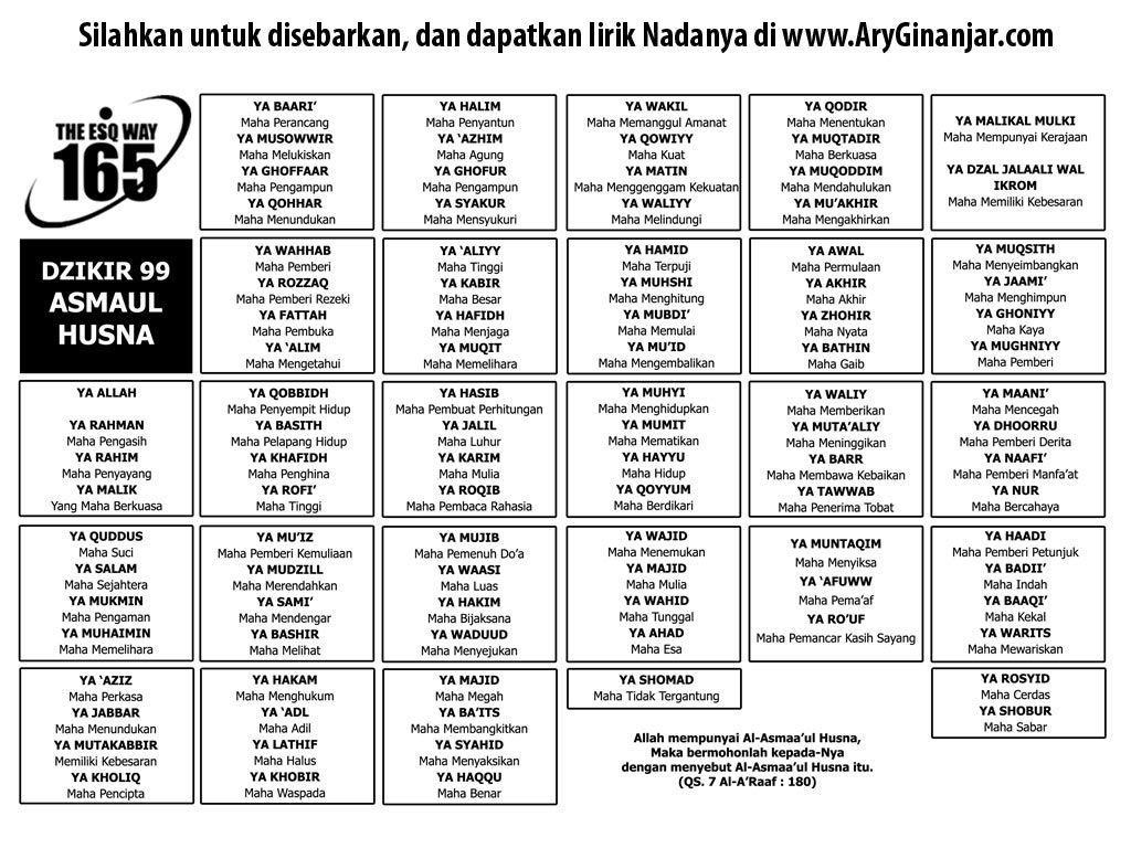 dzikir asmaul husna mp3 free download