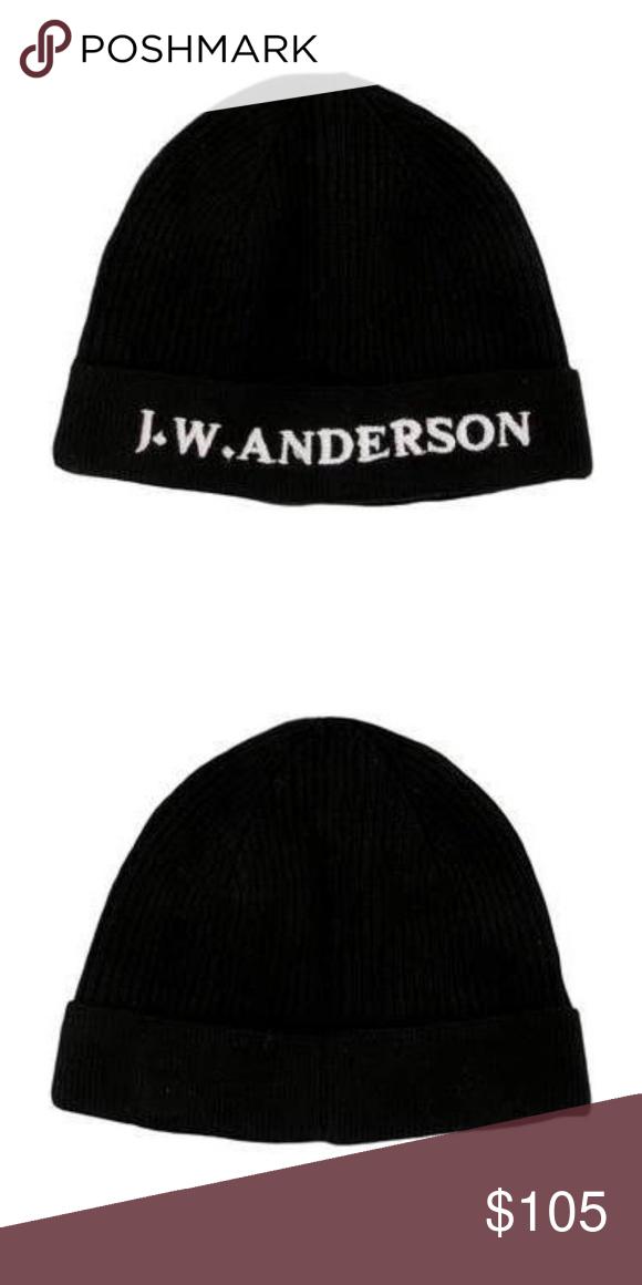 J W Anderson Black Beanie Black Beanie Beanie Wool Beanie