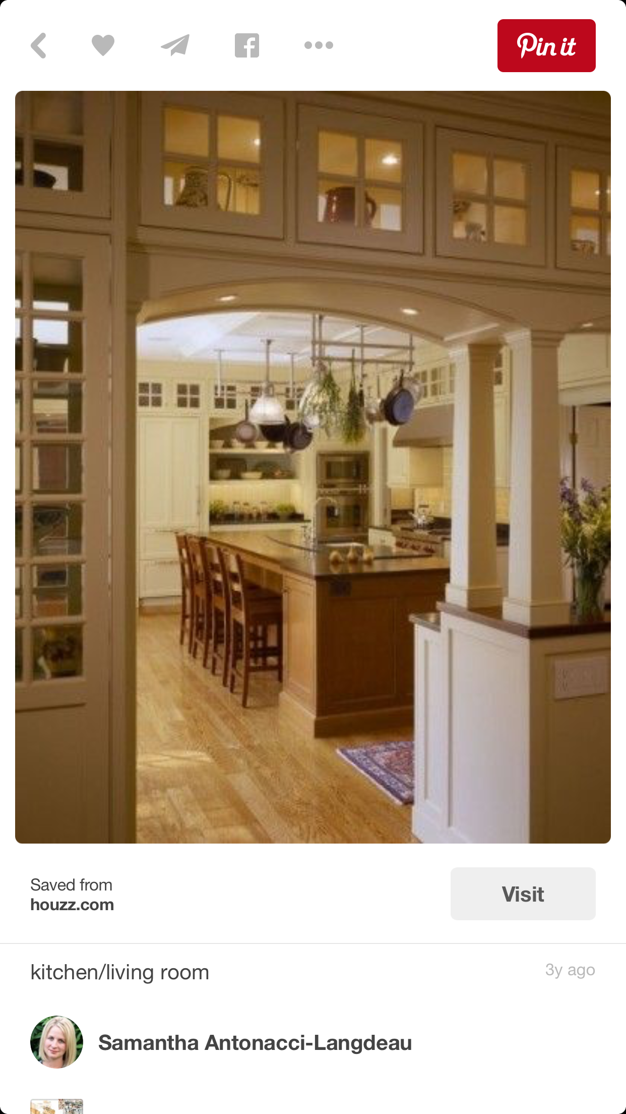 Love this would like a darker wood floor u accents kitchen