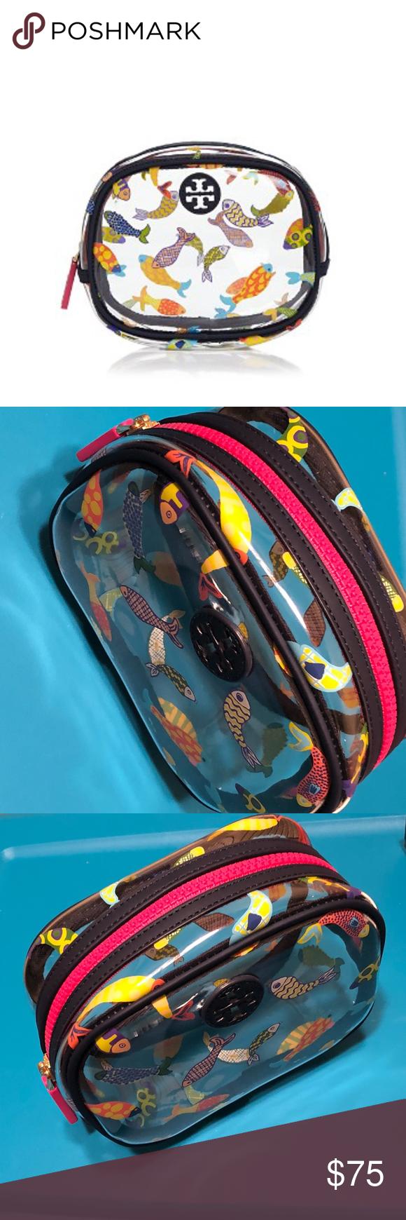0e2539f0965f NWT! TORY BURCH Fish-Print Cosmetic Bag NWT  amp  100% AUTHENTIC!