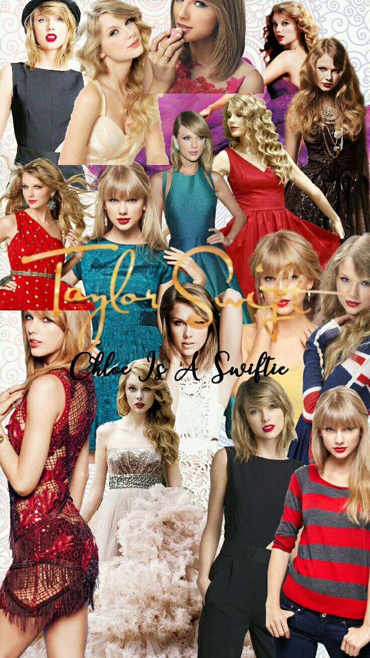 Taylor Swift iphone collage wallpaper edit by Chloe Is a