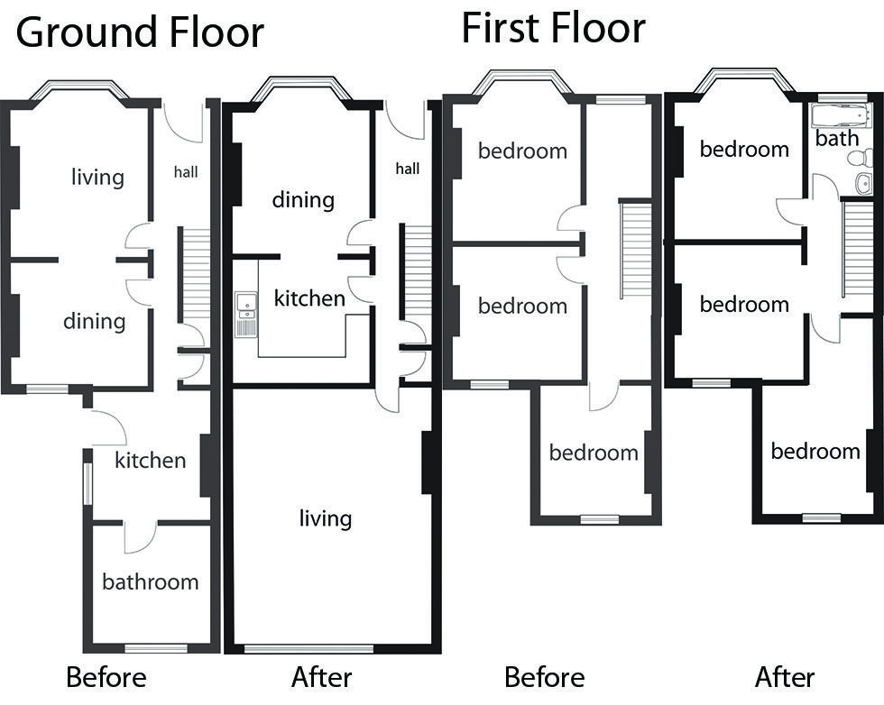 Moving Ground Floor Bathroom To The First Without Looking A Bedrrom